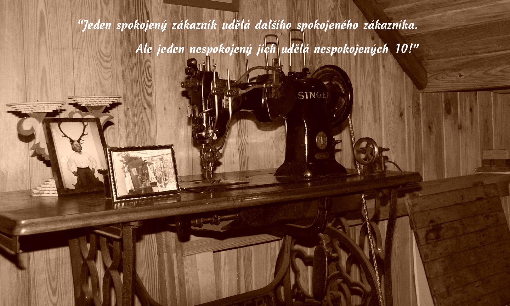 Jiří Lučan - servis šicích strojů od roku 1982